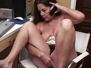 American granny watch xHamster and masturbate