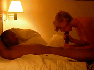 Watching wife give amazing deep throat to a huge BBC