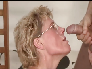 MILF gets the exercise she needs, plus a protein shake!