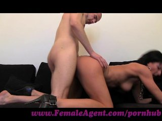 FemaleAgent. Stud can fuck MILF agent for hours