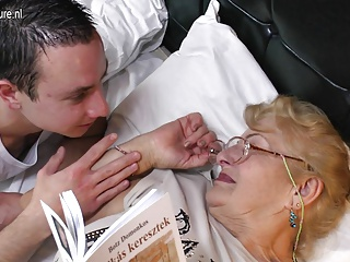 Very Old Grandmother Licking Young Boy's Ass