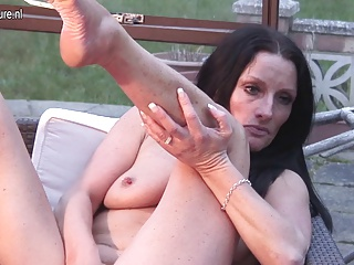 Smoking British mature mother needs young dick