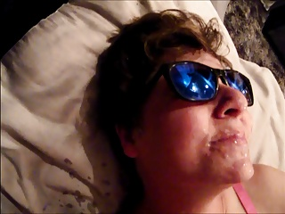 My Milf Wife takes another Facial Cumshot