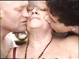 Kinky Granny in a Threesome
