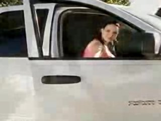 Hot women - Driving Breast Test