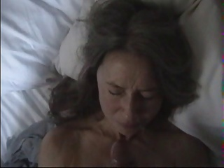 Wife cringes at facial