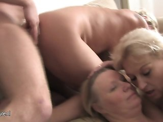 Old mature moms do crazy things with boy