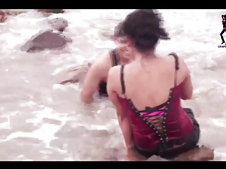 desperate desi Indian house wife shooting on beach non nude