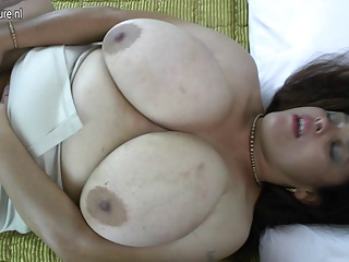 Amateur Latin MOM with GIANT tits