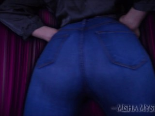Jeans JOI POV Ass Worship - femdom pov countdown joi blue jeans fetish