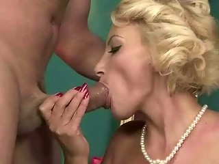 Hot mature blonde enjoys hard sex