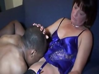 Housewife enjoying BBC