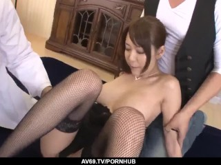 Accomplish 3 way gonzo for needy Akari Asagir - More at javhd.net