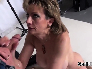 Unfaithful brit cougar woman sonia finishes off out her huge boo