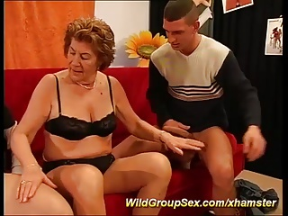 moms first anal gangbang orgy