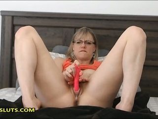 Naughty lecturer frolicking with her fucktoys