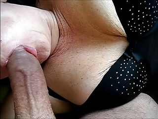 Wife in nice lingerie blows cock