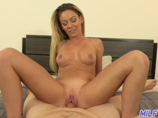 Cougar excursion - uber-sexy blondie cougar gets internal ejaculation from thick fat wood