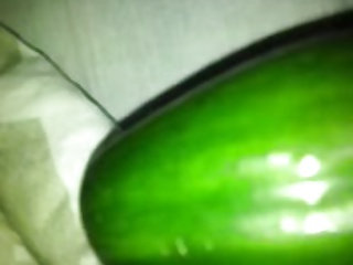 I fuck wife with cucumber 1