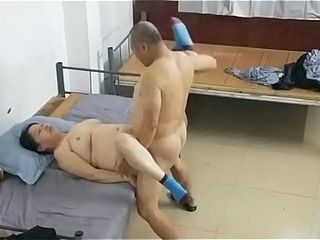 Elder chinese stud With prostitute