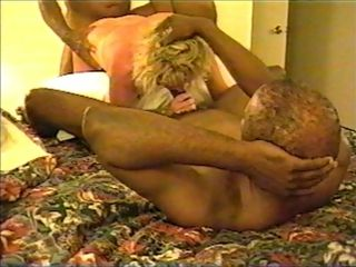 Light-haired wifey cooter being plumbed by hefty ebony spunk-pumps in hotel