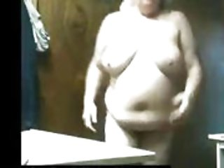 my chubby mother spied in our bathroom