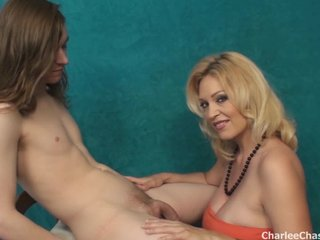 Lucky Younger Man Tit Fucks MILF Charle Chase
