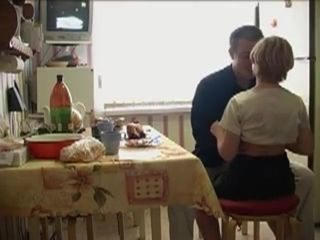 Russian youthful uber-cute And elderly boy pummels In Kitchen