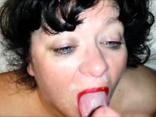 Succulent broad in the beam gumshoe Blowjob with the addition of Cumshot Facial 021