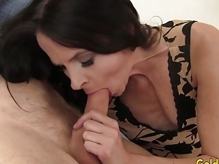 Mature brown-haired Natasha Kee Gets Her throat and cooch ravaged rock hard
