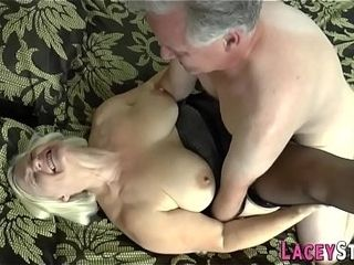 Brit granny Lacey Starr cunny eaten