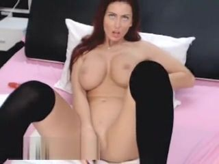 Mature Red-Head stretching Her appetizing gams For The web cam