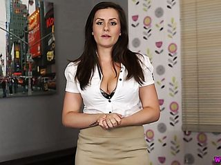 Charlie Rose is cute looking office hotty who is superb at solo displays
