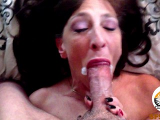 Cougar bj Oral internal ejaculation Post spunk inhale Compilation (Real Couple)