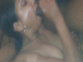 Indian desi wife sucking her first BBC