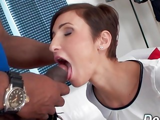 Distraught hubby Has to witness His wifey Gabrielle Gucci plumb a ebony boy