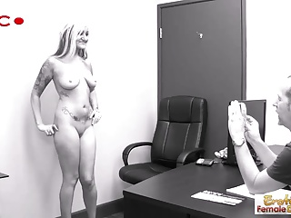 Sexy GILF strips and fucks at her job interview