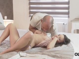OLD4K. Brunette miss Anita B gets pussy licked and fucked by mature lover|38::HD,47::Young and Old,57::Brunette,2221::European,2311::Step Fantasy