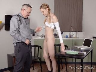 To finer her grades steaming coed completes up gargling her teacher's manstick