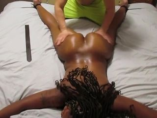 Spanking Thick Ass Ebony MILF Until She Takes My Mold