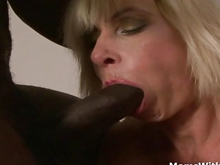 Ash-blonde grannie Lilli Gets anal invasion plowed By big black cock