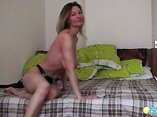 Performed solo showcase by wonderful huge-titted ash-blonde head Vanessa is exciting
