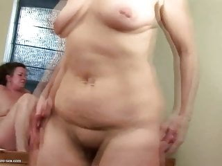 Mature unshaved moms bang youthfull dame and slobber on her