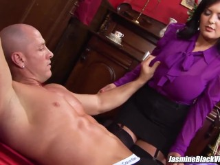 Jasmine dark-hued gets Johnny XL up to love giant pink cigar drilling