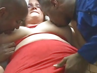 Mature interracial threesome