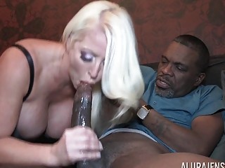 Hot pornstar with huge fake tits gets fucked by BBC