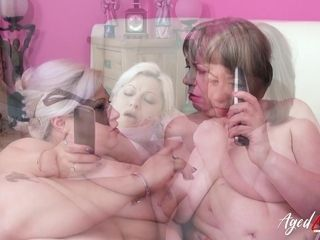 AgedLovE Groupsex With 2 Matures and trio dicks