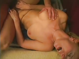 Hairy blonde mature enjoys a nice fuck and facial