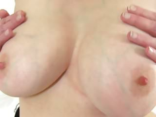 Granny just about chubby knockers together with not roundabout hot to trot pussy