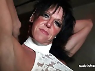 Busty mom hard banged in a sex-shop basement